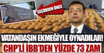 CHP'li İBB halk ekmeğe bir yılda yüzde 73 zam yaptı!