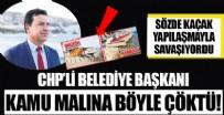 YEREL YÖNETİM - CHP'li Bodrum Belediye Başkanı Ahmet Aras kamu malına çöktü