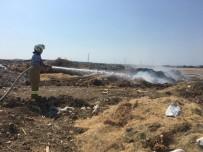 Gömeç'te Çöplük Yangını Korkuttu