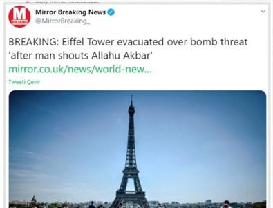 İngiliz medyası Eyfel Kulesi'ndeki bomba tehdidini...