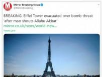 BASIN KURULUŞU - İngiliz medyası Eyfel Kulesi'ndeki bomba tehdidini...