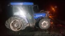 Balıkesir'de Otomobil İle Traktör Çarpıştı Açıklaması 2 Ölü, 1 Yaralı