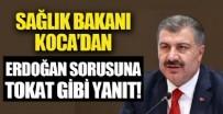GİRESUN - Fahrettin Koca'dan 'Erdoğan' sorusuna tokat gibi cevap