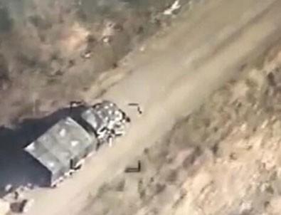 Azerbaycan'ın droneları Ermenileri böyle vurdu!
