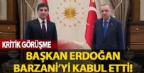 ÇAVUŞOĞLU - Başkan Erdoğan IKBY Başkanı Barzani'yi kabul etti