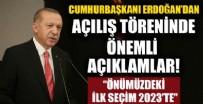 AKILLI ULAŞIM - Cumhurbaşkanı Erdoğan açılış töreninde konuştu!