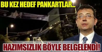 CHP'li İBB zabıtası şimdi de Göztepe Prof. Dr. Süleyman Yalçın Şehir Hastanesi için açılan teşekkür pankartlarını kesti!