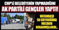 ESKİŞEHİR - CHP'li Eskişehir Büyükşehir Belediyesi'nin dağıtamadığı içme suyunu AK Partili gençler dağıtıyor