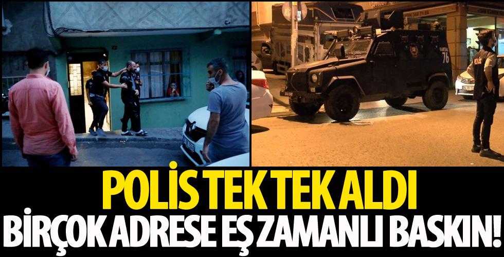 İstanbul'da eş zamanlı uyuşturucu operasyonu