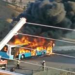 Tuzla'da Özel Halk Otobüsü Alev Topuna Döndü