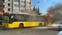 BOSTANCı - İETT otobüsü alev alev yandı!
