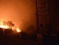 SIĞINMACI - Moria sığınmacı kampında ikinci kez yangın çıktı!