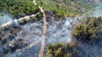 Pozantı'daki Orman Yangının Büyüklüğü Drone İle Görüntülendi