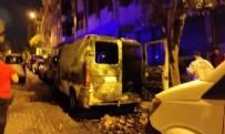 POLİS EKİPLERİ - Sokak ortasında aniden alev aldı
