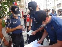Taksim'de Korona Virüs Kurallarını Hiçe Sayanlara Ceza Yağdı