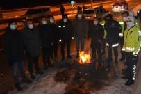 Yılbaşı Gecesi Eksi 25 Derecede Kolluk Kuvvetleri Görev Başında