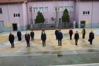 Edremit Okullarda İstiklal Marşı Okundu