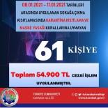 Karabük'te 56 Saatte 54 Bin 900 TL Para Cezası Kesildi