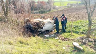 Ağaçlara Çarparak Taklalar Atan Otomobil Hurdaya Döndü Açıklaması 1 Yaralı
