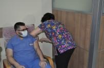 Kırşehir'de, Sağlık Personelinde Aşılama Başladı