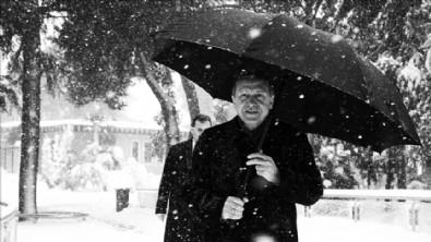 Başkan Erdoğan'dan kar paylaşımı