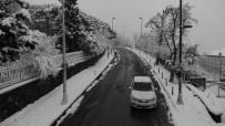 Beyaz Örtü İle Kaplanan Mecidiyeköy Havadan Görüntülendi