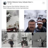 Karla Kaplı Yolları Kendi İmkanlarıyla Açan Muhtarın Paylaşımı Gülümsetti