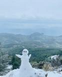Datça'nın Yüksek Kesimlerine Kar Yağdı