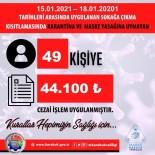 Karabük'te 56 Saatlik Kısıtlamayı İhlal Eden 49 Kişiye 44 Bin 100 TL Ceza Kesildi