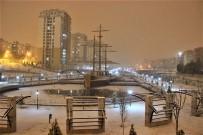 Karaman Gece Başlayan Karla Beyaza Büründü