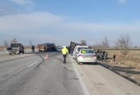 Konya'da Trafik Kazası Açıklaması 1 Yaralı