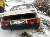 Konya'da 3 Araç Çarpıştı Açıklaması 1Ölü, 4 Yaralı