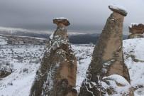Kapadokya'da Mevsimsel Farklılık Aynı Noktadan Çekilen Fotoğrafa Yansıdı