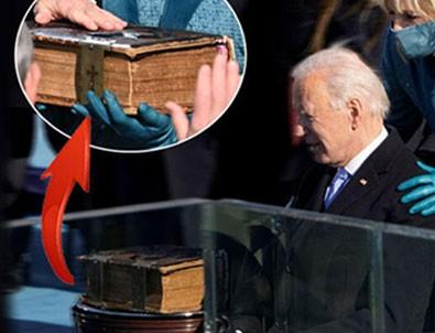 Biden'ın el bastığı İncil'de dikkat çeken detay!