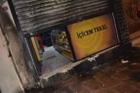 Büfeyi Ateşe Verdi, Kaçarken Polise Çarptı
