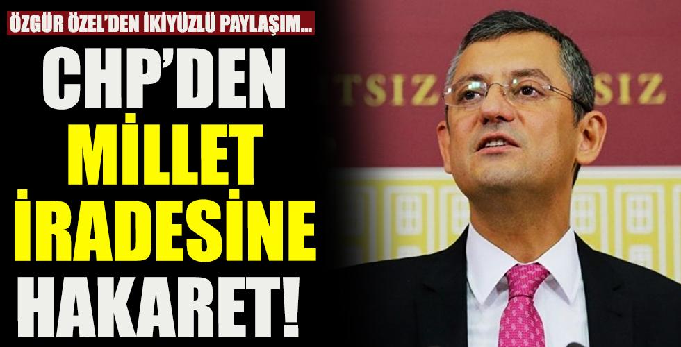 İktidar yüzü göremeyen CHP'den millet iradesine hakaret!
