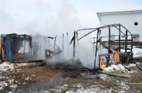 Sakarya'da Roman Vatandaşın Çadırı Yandı, Komşusu Yardım İstedi