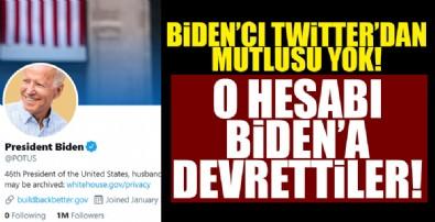 Twitter o hesabı Biden'a devretti!
