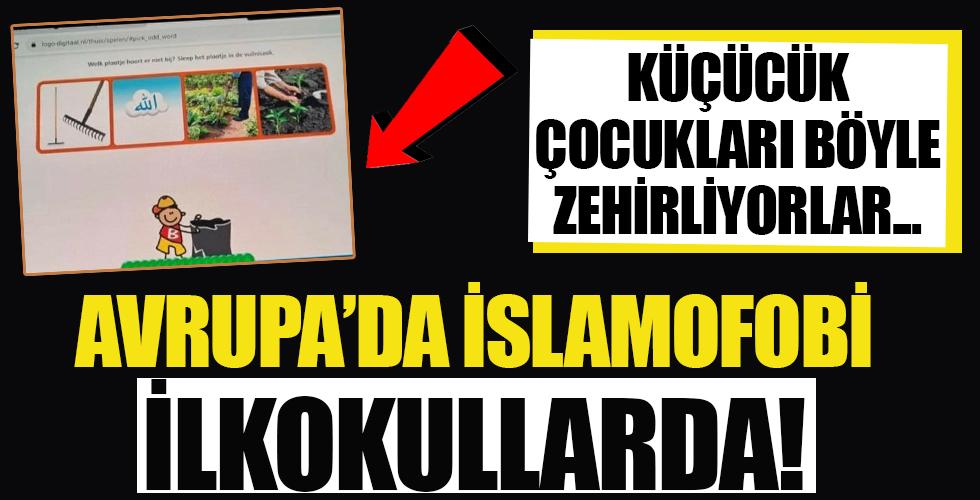 Avrupa'da İslamofobi ilkokullarda! Küçücük çocukları böyle zehirliyorlar...