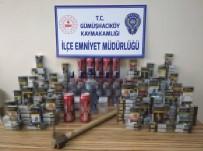 İş Yerinden Sigara Ve Alkol Çalan Zanlılar Yakalandı
