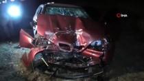 Konya'da Yolcu Otobüsü İle Otomobil Çarpıştı 1 Kişi Öldü