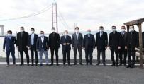 AK Parti Grup Başkanvekili Turan, 1915 Çanakkale Köprüsü'nün İnşaat Şantiyesini Gezdi