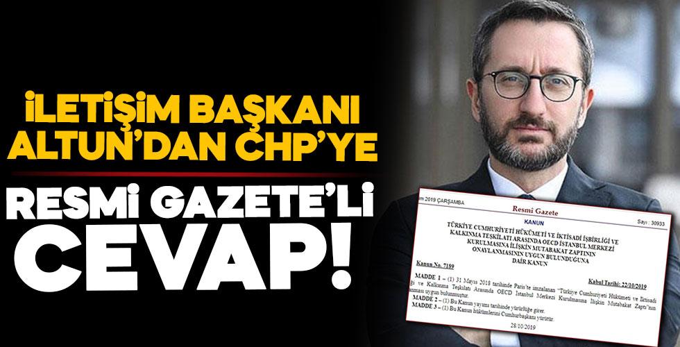 CHP'ye Resmi Gazete'li cevap!