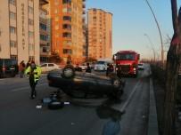 Kontrolden Çıkan Otomobil Ağaca Çarpıp Takla Attı Açıklaması 2 Yaralı