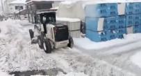Ağrı Belediyesi Eksi 30 Derecede Kar Temizleme Çalışmalarına Devam Ediyor