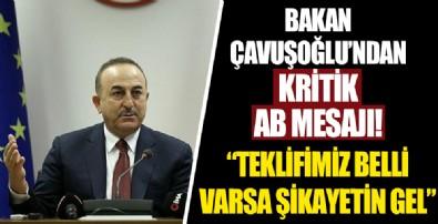 Bakan Çavuşoğlu'ndan kritik AB mesajı!