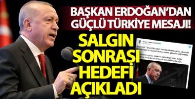 Başkan Erdoğan: Amacımız güçlü, dayanıklı ve rekabetçi bir Türkiye