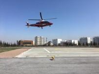 Felç Geçiren Hasta Hava Ambulansı İle Şehir Merkezine Getirildi