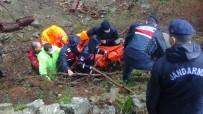 Köprünün Çökmesi Üzerine Azgın Sulara Düşerek Boğulan Kadının Cenazesi Zorlu Bir Operasyon İle Çıkarıldı