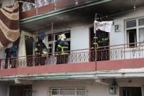 Evde Kimse Yokken Çıkan Yangın, Paniğe Sebep Oldu